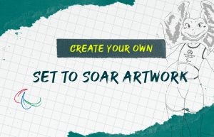 Text on image reads: Create your own Set to Soar Artwork